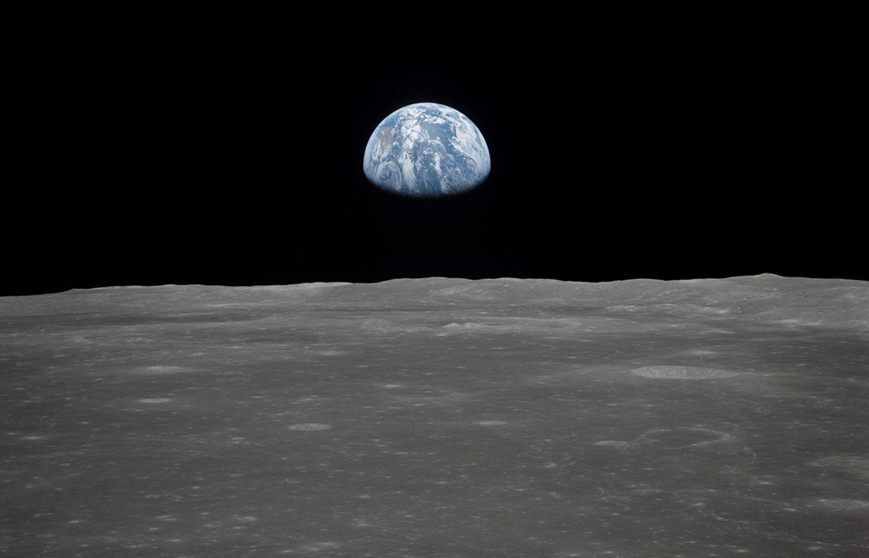 Die Erde, vom Mond aus gesehen