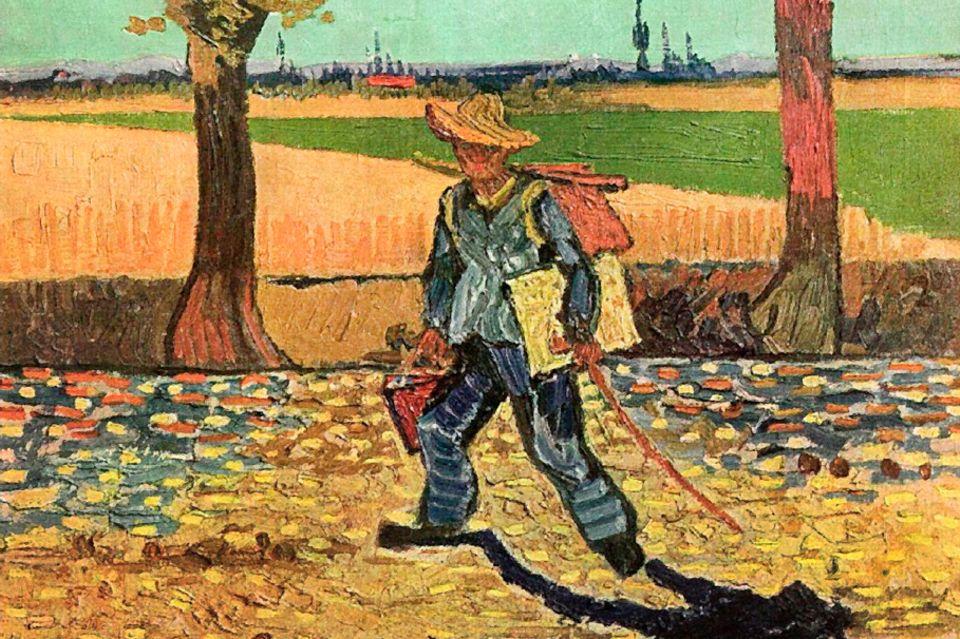 Vincent van Gogh, Selbstporträt auf dem Weg nach Tarascon