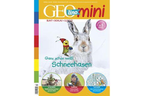 GEOlino Mini Nr. 13/2020: Schneehasen, ganz schön weiß!