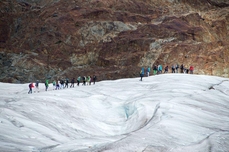 Wandertour auf dem Aletschgletscher