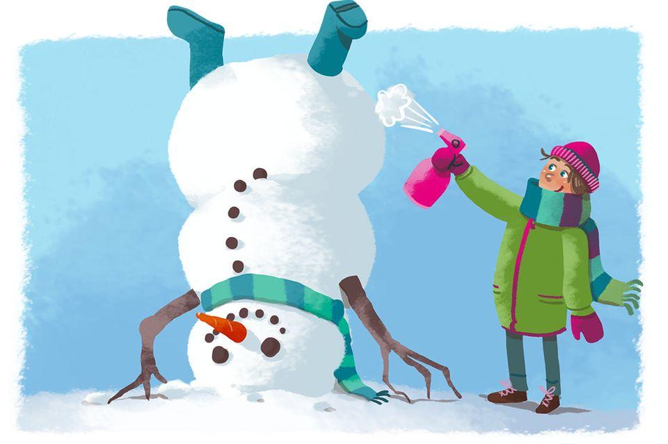 Zum Kugeln: So baut ihr verrückte Schneemänner