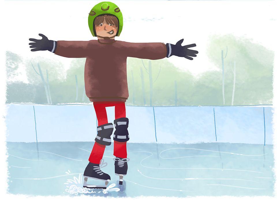 Stillgestanden!: Bremstechnik fürs Eislaufen