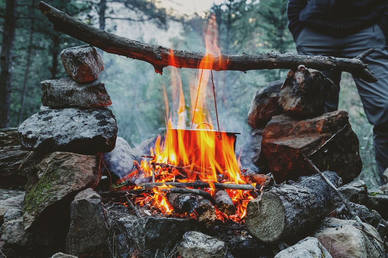Brandkochen im Winter