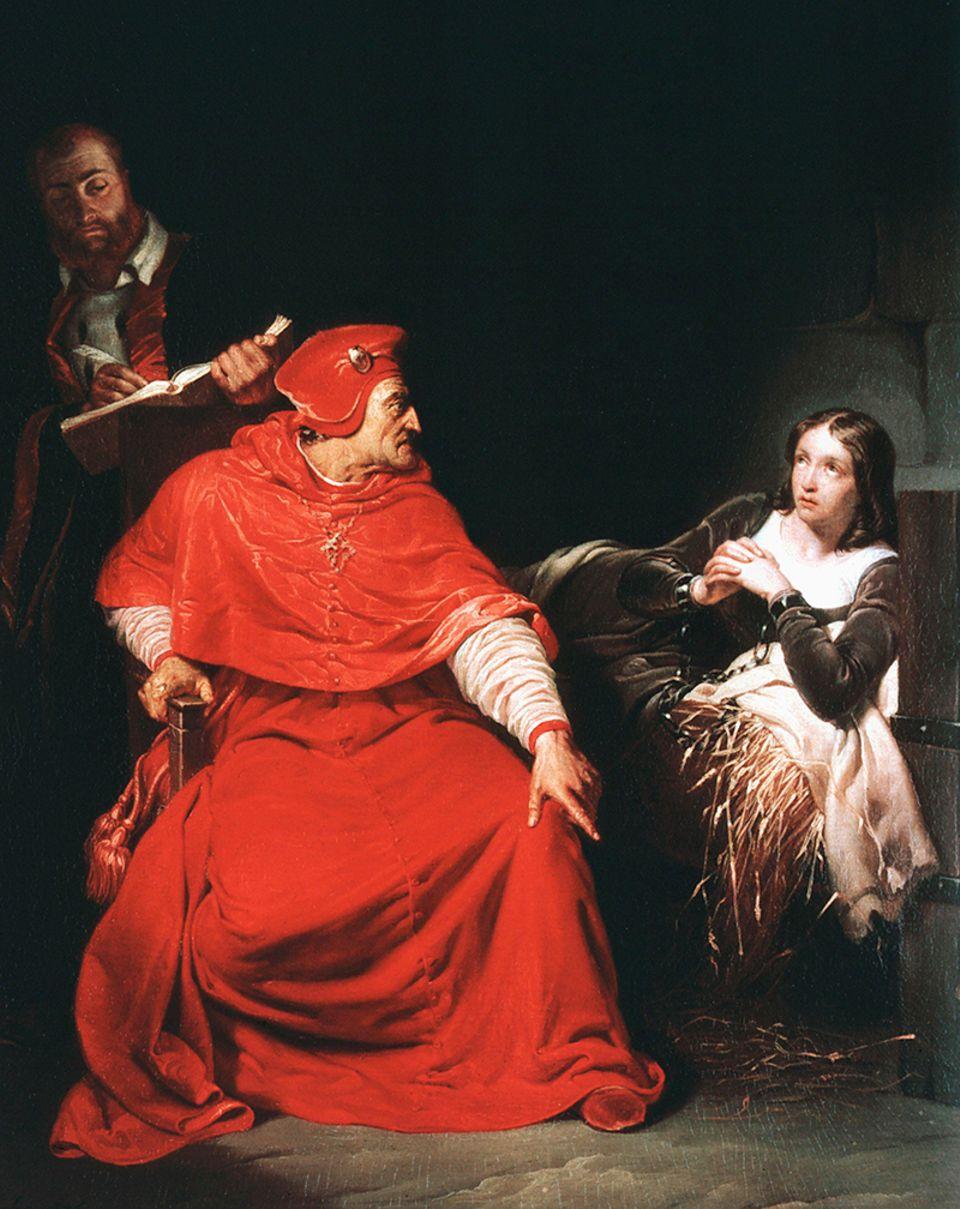 Ein Ermittler der Inquisition befragt Jeanne d'Arc