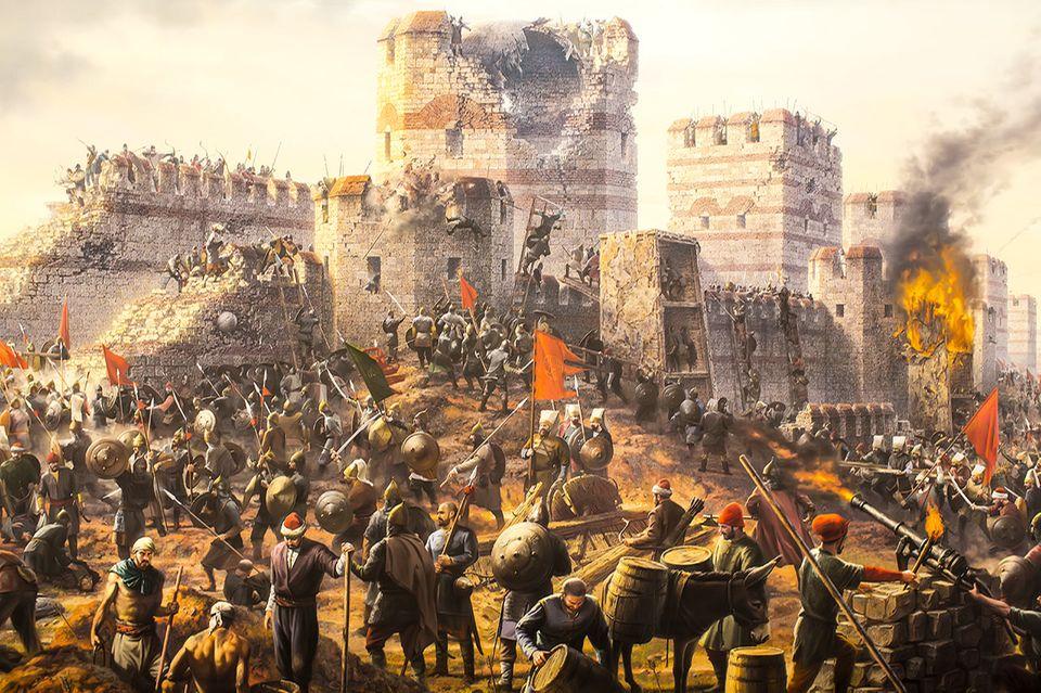 Sturm auf Konstantinopel, Byzantinisches Reich 1453