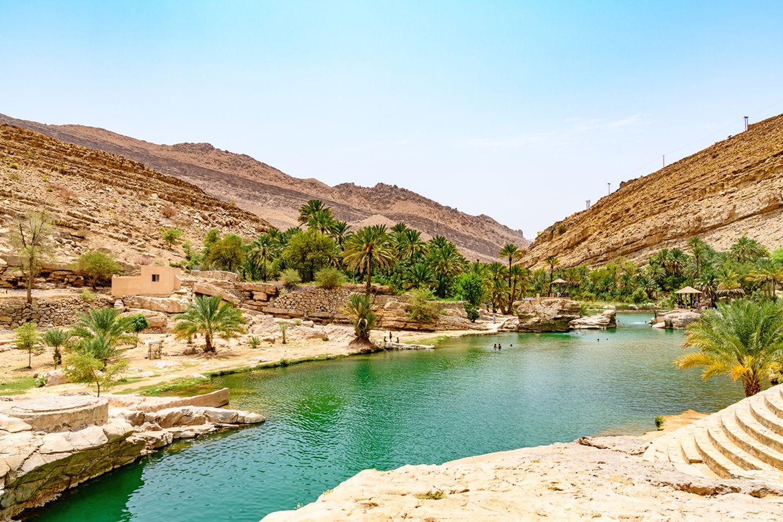 Wadi Bani Khalid in Oman