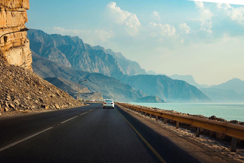 Küstenstraße im Oman