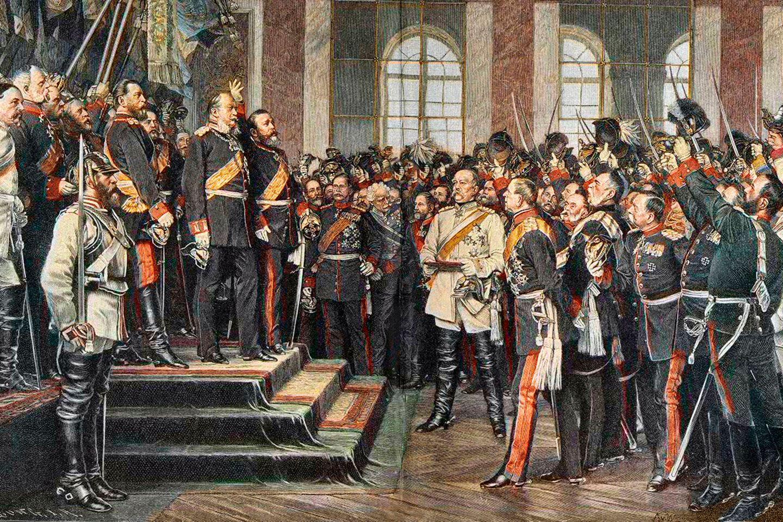 Die Proklamation des Deutschen Reiches