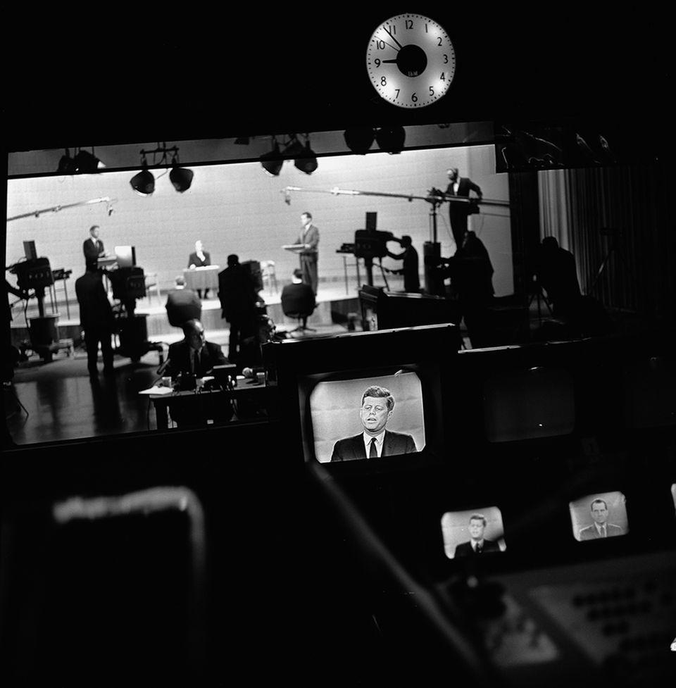 TV Duell zwischen Kennedy und Nixon