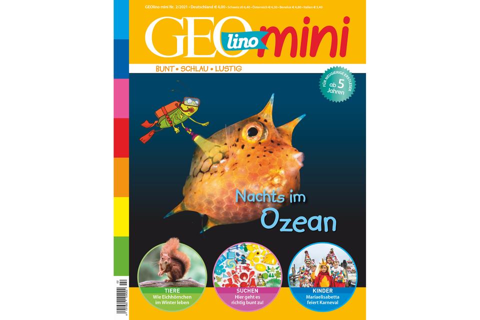 GEOlino Mini Nr. 02/2021: Nachts im Ozean