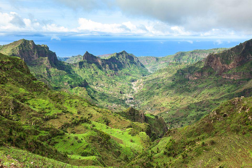 Serra Malagueta Berge auf der Insel Santiago Cape Verde