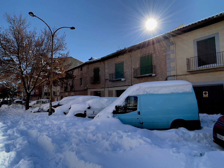 Wintereinbruch in Spanien