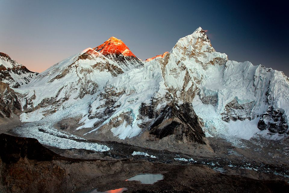 Mount Everest und Nuptse