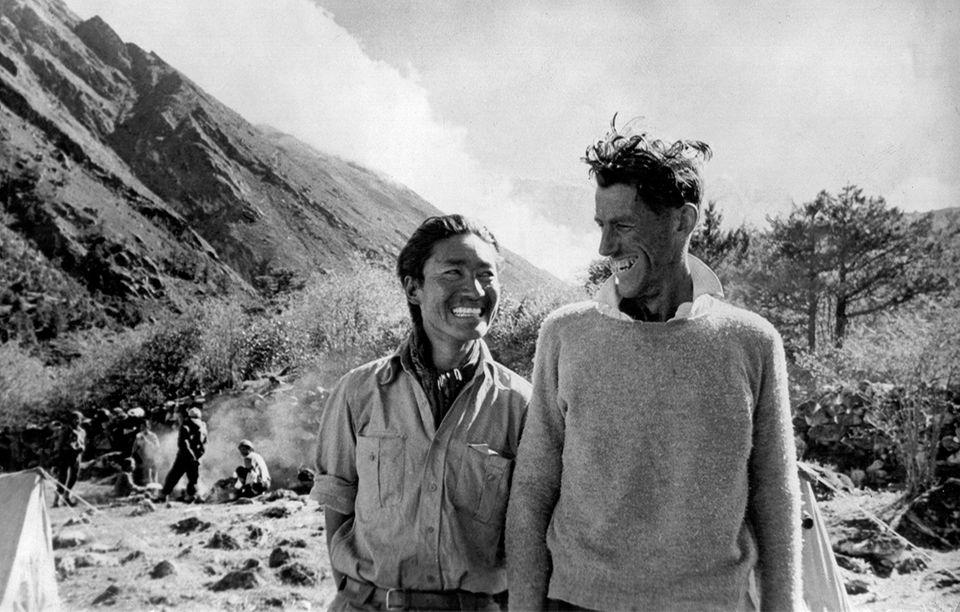 Sherpa Tensing und Edmund Hillary