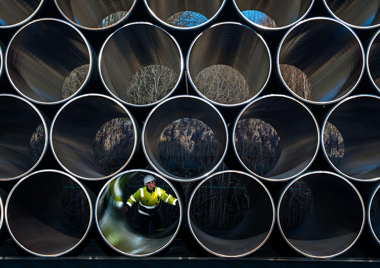 Röhren für die Pipeline Nord Stream 2