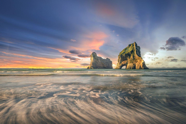 Wharaiki Beach, Neuseeland