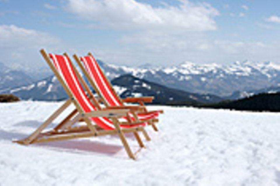 Schiebepuzzle: Nr. 103: Liegestuhl im Schnee