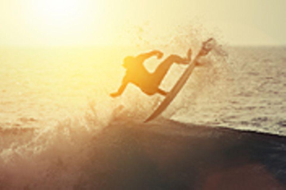 Schiebepuzzle: Surfer