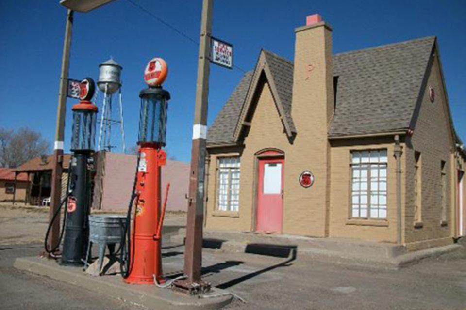 Schiebepuzzle: Tankstelle im Wilden Westen