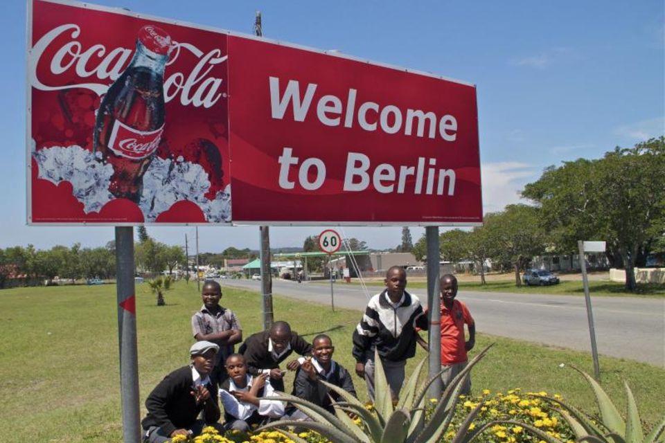 Ortsschild in Südafrika