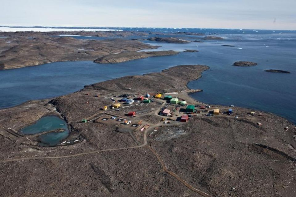 Davis Forschungsstation in der Antarktis
