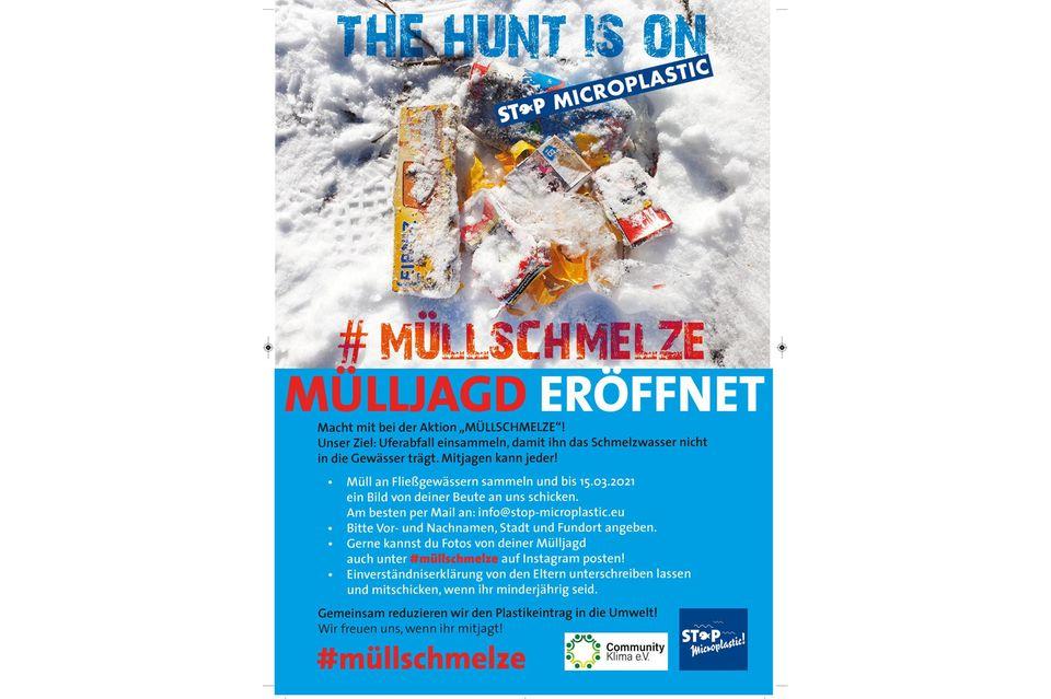 Der Flyer der Aktion #müllschmelze