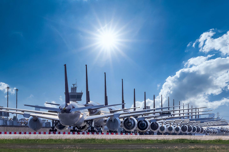 Durch die Corona-Pandemie ist der weltweite Flugverkehr vorübergehend zum Erliegen gekommen