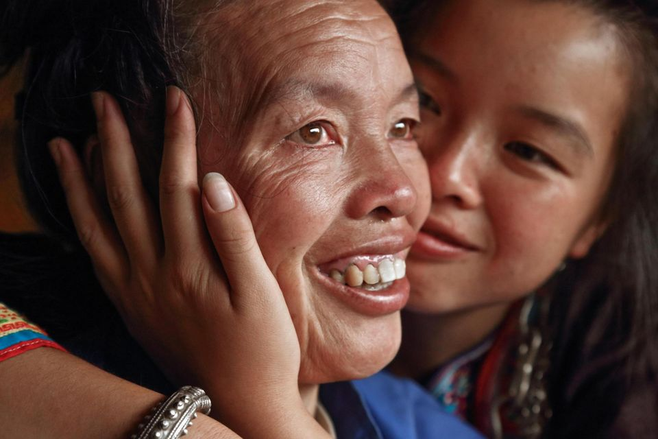 Xia, 19, mit ihrer Mutter Yanghua Wu