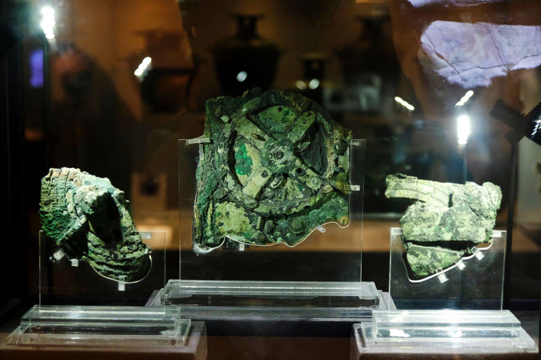 Antikythera-Mechanismus im Museum