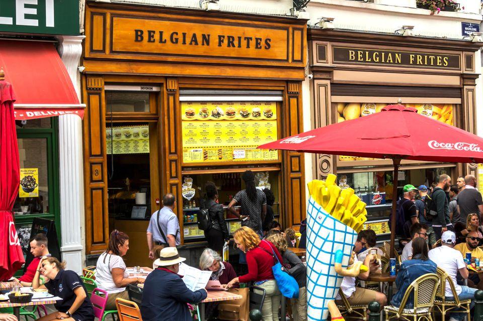 Belgische Pommesbude in Brüssel