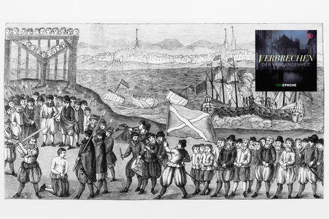 Die Illustration zeigt dievermeintlicheHinrichtungKlaus Störtebekers und weiterer Piraten um 1400in Hamburg.Doch hat es diesen Mann überhauptgegeben?