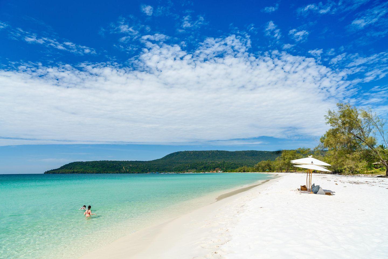 Weißer Sandstrand der Insel Koh Rong