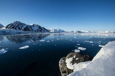Eislandschaft in Spitzbergen