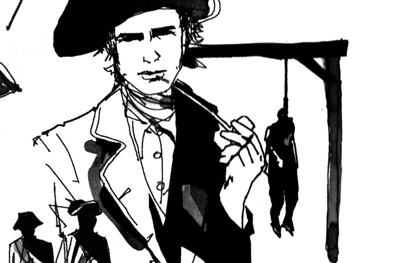 von Nassau sind die berüchtigsten Seeräuber der Zeit zu Hause: neben Gründer Benjamin Hornigold (o., Mitte) etwa Edward »Blackbeard« Thatch (o. l.), Stede Bonnet (o. r.) und Samuel Bellamy (u. l.). Ab 1718 jedoch hebt Woodes Rogers (u.r.) das Piratennest aus