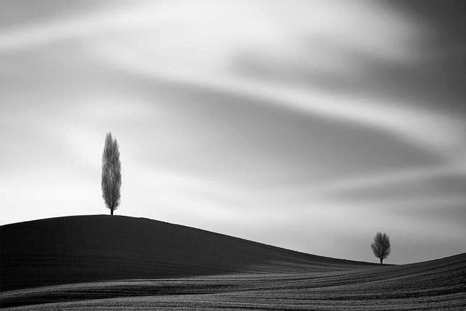 Schwarzweiß-Aufnahmen eigenen sich perfekt, um Landschaft als Spiel mit Formen und Schattierungen zu inszenieren
