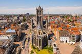 Die St.-Bavo-Kathedrale in der Altstadt von Gent
