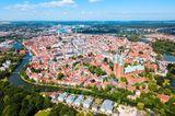 Blick auf Lübeck aus der Vogelperspektive