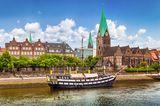 Altes Segelschiff in Bremen