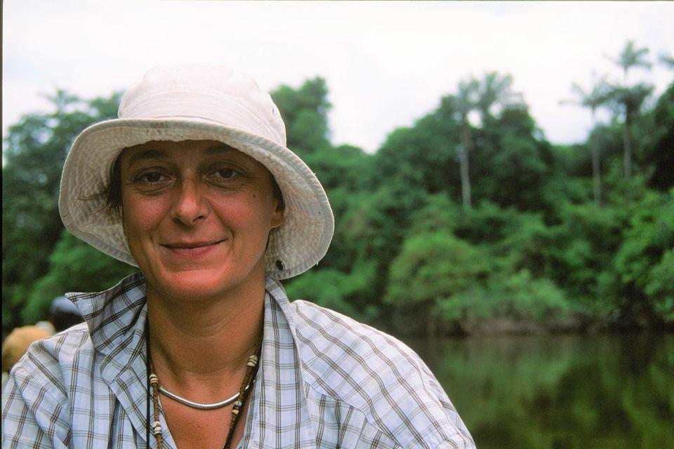 Johanna Wieland auf einer Forschungsexpedition in Guayana