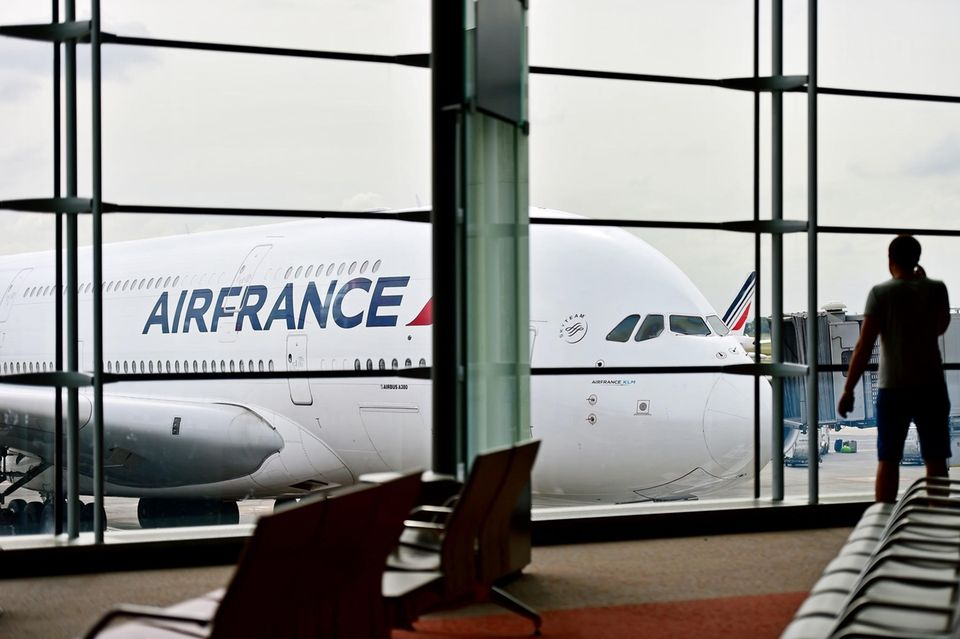 Air France Maschine am Flughafen