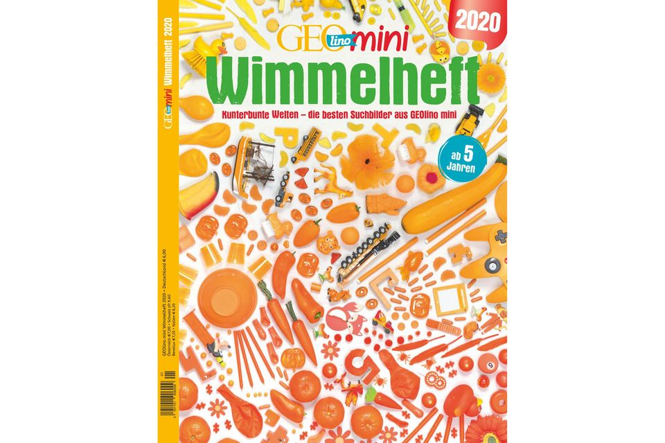GEOlino Mini Wimmelheft Nr. 01/2020: Kunterbunte Welten: Die besten Suchbilder aus GEOlino Mini