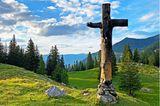 Crucifix steht auf der Älggialp