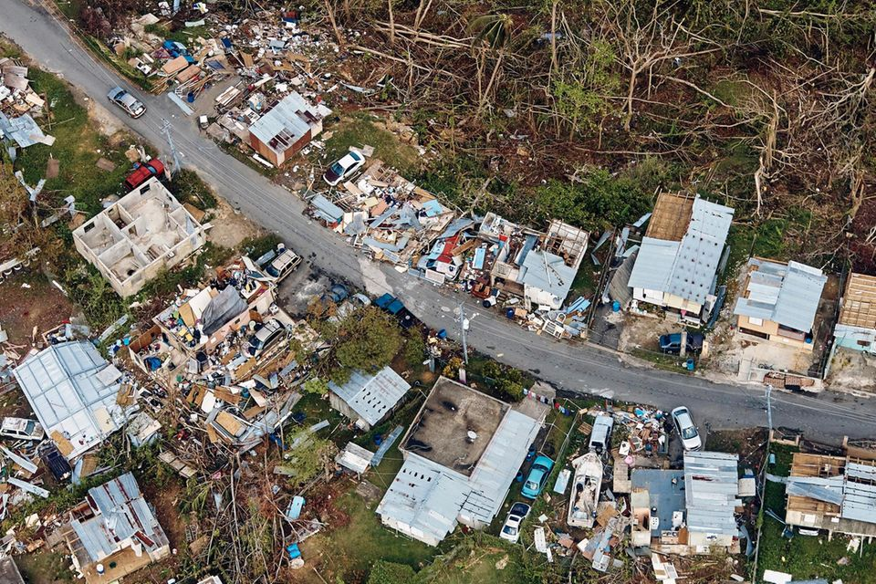 """Katastrophale Saison: Im Jahr 2017 richten """"Irma"""" und neun weitere Stürme Schäden in Milliardenhöhe an (hier """"Maria"""" in Puerto Rico)"""