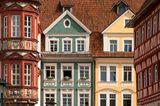 Fassaden der Altstadt in Coburg