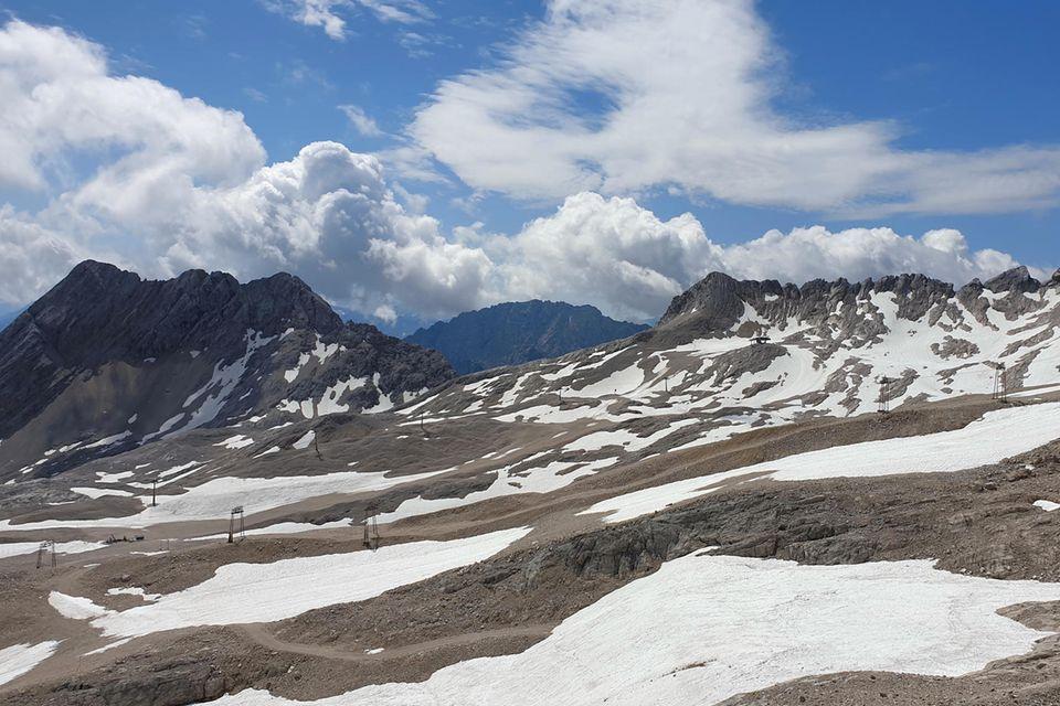 Gletscherschmelze bei Garmisch-Partenkirchen