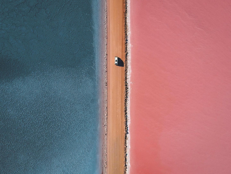 Luftaufnahme vom Lake Macdonnell