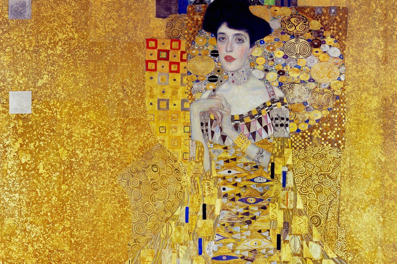 Ganz in Gold scheint die BankierstochterAdele Bloch-Bauergewandet zu sein. Das luxuriöse Ornament soll den gesellschaftlichen Status der Porträtierten spiegeln – und ihr zugleich eine besondere  Hoheit verleihen (1907)