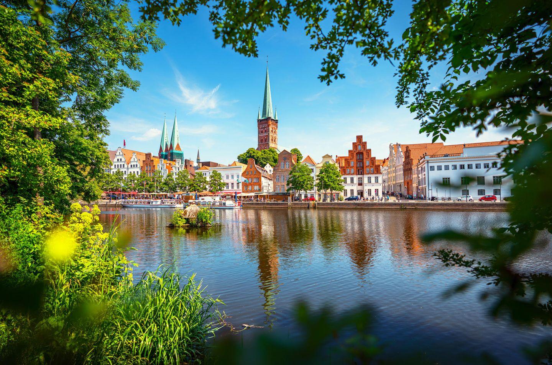 Blick auf Lübeck