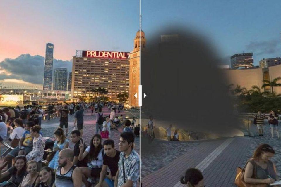Vorher-Nachher-Bilder: Wie Sehstörungen das Sichtfeld verändern