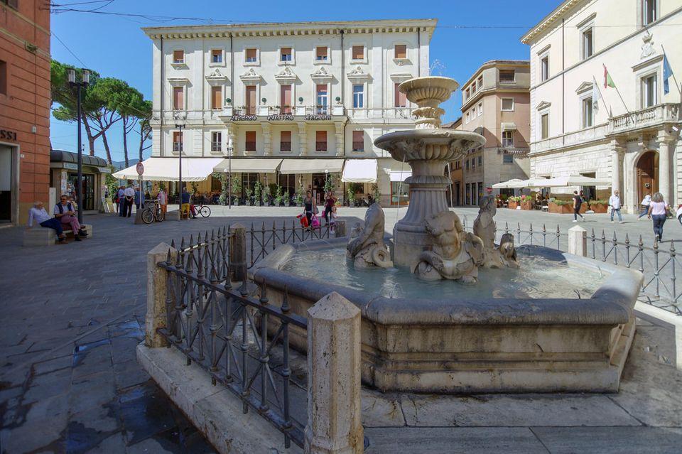 Piazza Vittorio in der Altstadt von Rieti (Archiv)